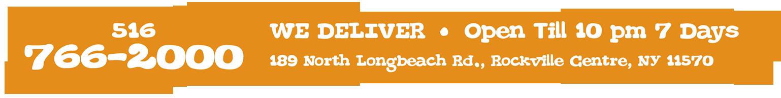 We Deliver - 516-766-2000